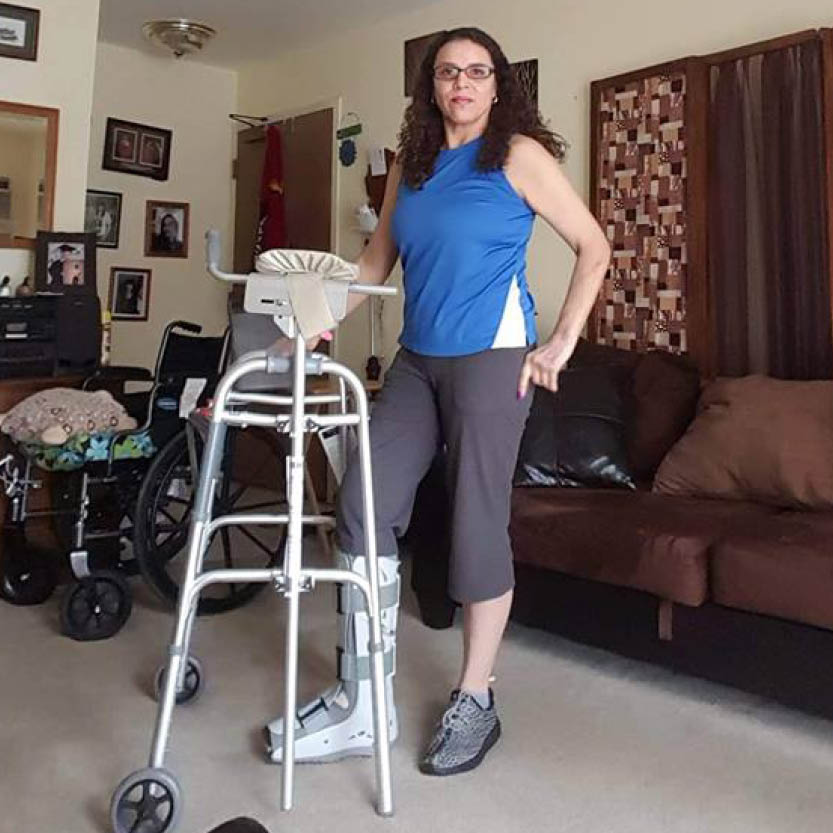 Anna Fetzer - Former patient with walker