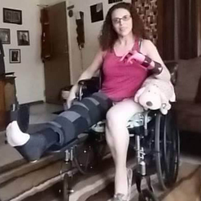 Anna Fetzer - Former patient in wheelchair